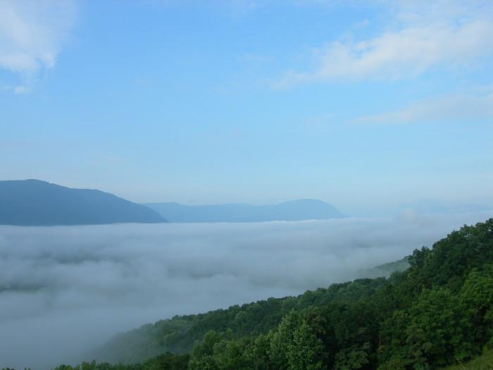 12. Fog rolling in on the Appalachian range