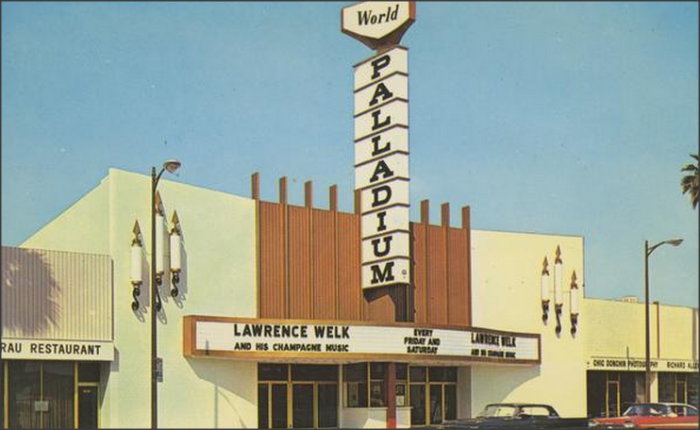 12. The Palladium in Los Angeles featuring Lawrence Welk. Now that's a blast from the past!!