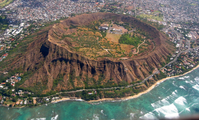 17. Oahu's Diamond Head Crater is majestic, especially from above.