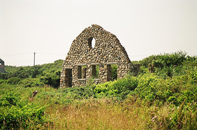 3. Old stone house at Scarborough Beach, Narragansett. This stone structure in a secluded area next to the beachfront is a beautiful and slightly scary sight.