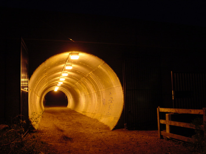 13) Would you walk through this Maryland tunnel at night?