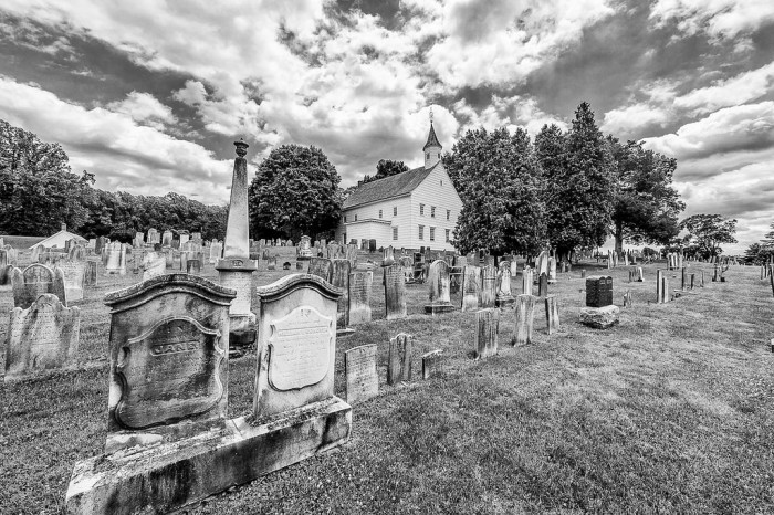 4. Old Tennent Cemetery and Church, Manalapan
