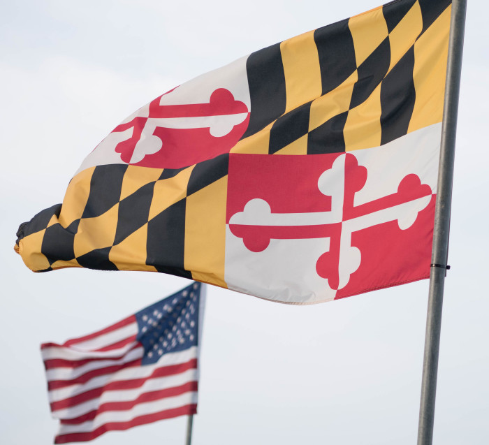 12. The Maryland flag is the only US state flag based on British heraldry.
