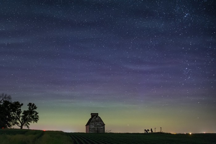 10. Or this lonely old barn, sitting under a twilight sky.