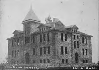 "4. ""1907 High School, Alma, Kansas."""