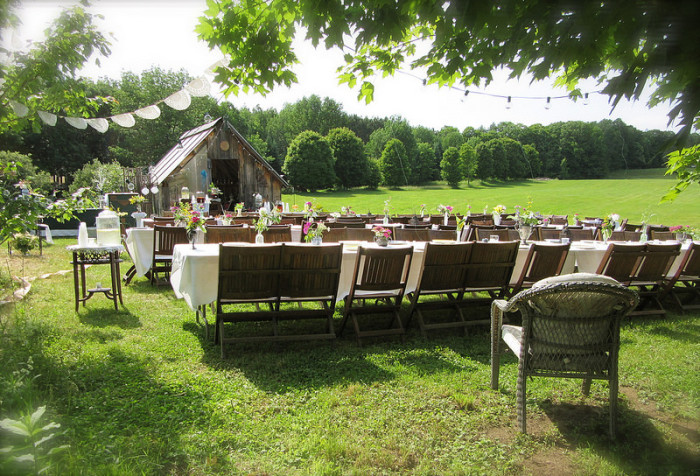3.  All set up for a country wedding in Westminster West.