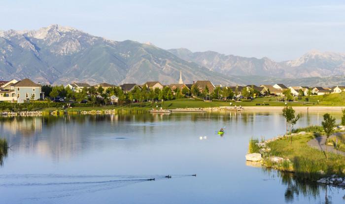 12. People in Utah own homes.