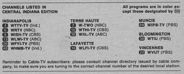 With only 13 channels, Hoosiers in 1973 had way more fun AWAY from their TV.