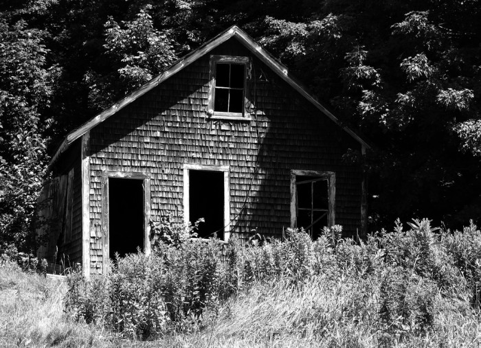 7. An Aroostook County cabin that surely has some spooky stories to share.