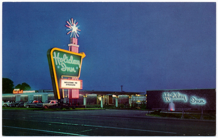 5. Taken in 1963, you can see the vintage sign for Syracuse's Holiday Inn!