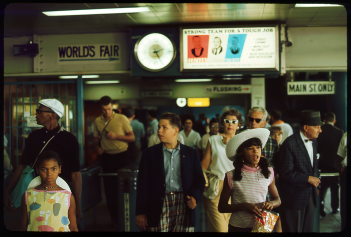 11. New York's residents making their way to the New York World's Fair.
