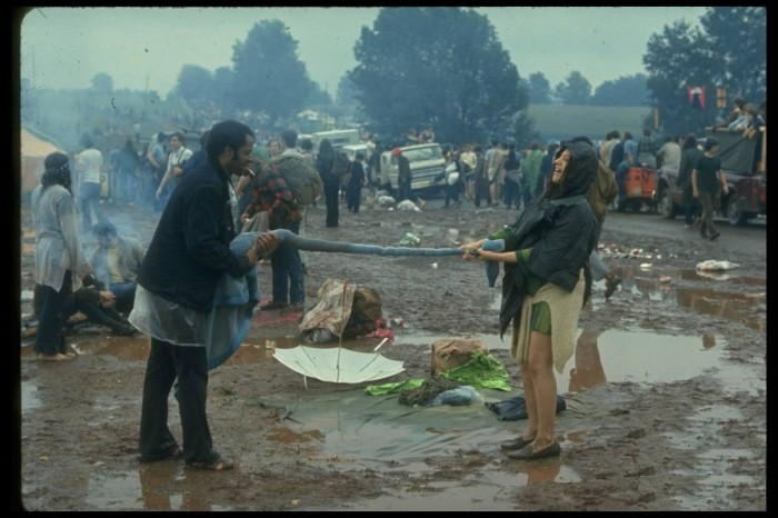8. Looks like someone, well maybe everyone, had a little too much fun at the 1969 New York festival, Woodstock!