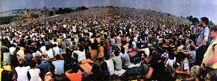 9. Reminding us of the nearly half a million free spirits who took on 1969's Woodstock, this blast from the past photograph is unbelievable!
