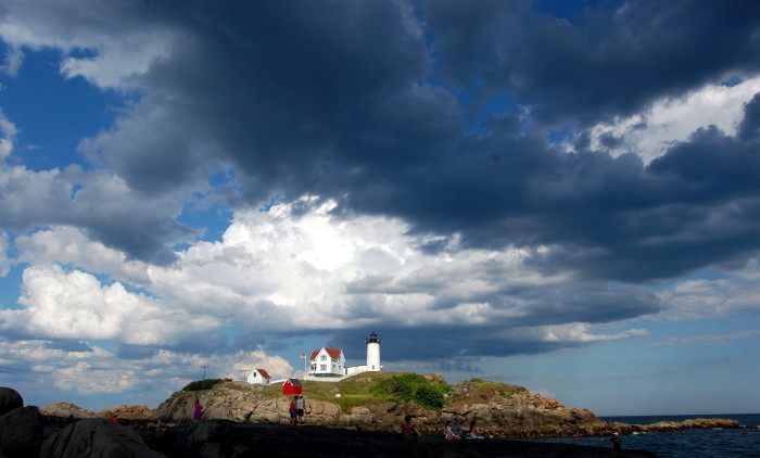 """12. """"In a world where the insignificance of our existence was made real by Nubble Lighthouse..."""""""