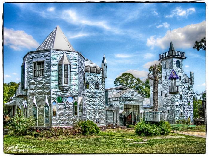 Solomon's Castle shines brightly in the Florida sun.