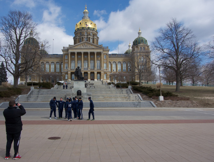 1. The Iowa State Capitol Building, Des Moines