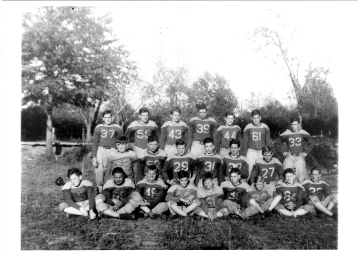 2. The Gloster High School football team in 1945.