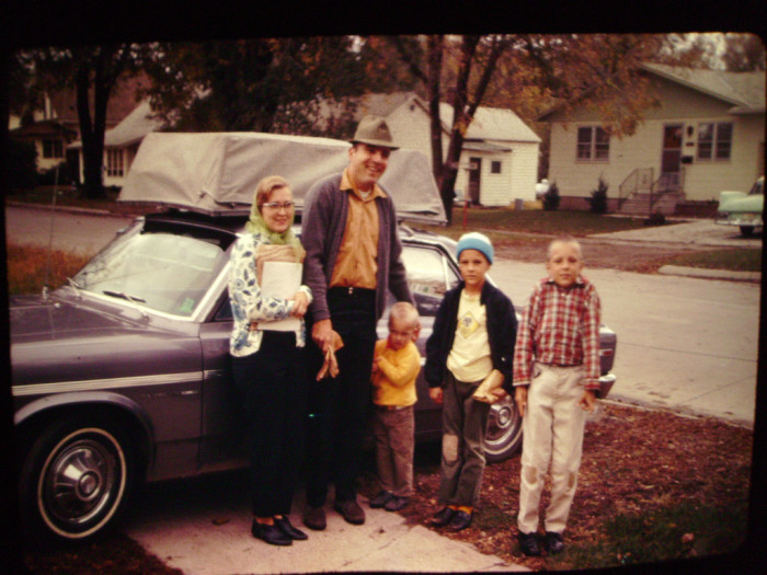 2. The bags are packed, the car is loaded, and this Iowa family is ready to take a road trip in 1970.