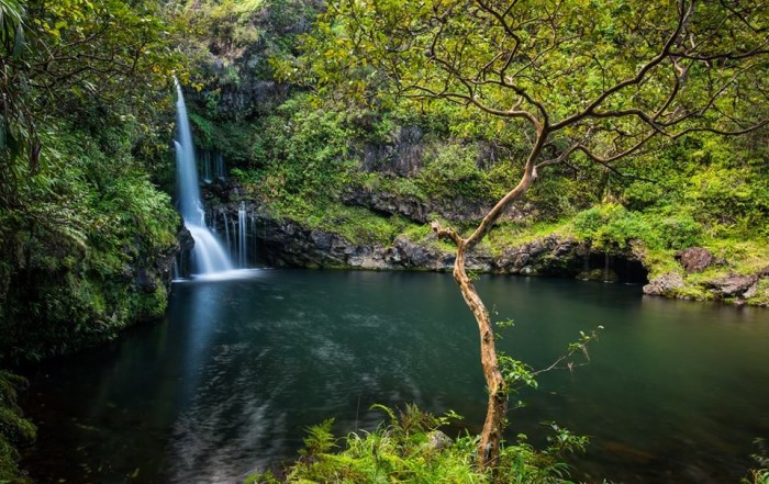 2) A waterfall near Hana, on Maui, could be the perfect backdrop for any film.