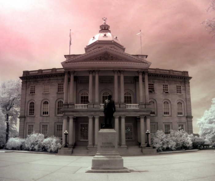 6. The statehouse is looking pretty in pink.