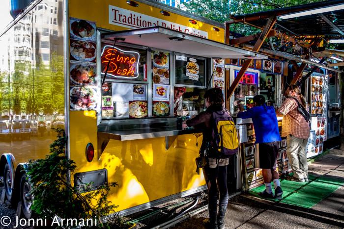 2.  We eat at food carts. A lot.