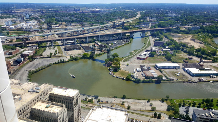 16. You're still trying to convince visitors (and haters) that the Cuyahoga River is no longer flammable.