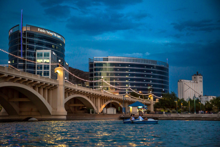 15. Or even Tempe Town Lake as the sun is setting.