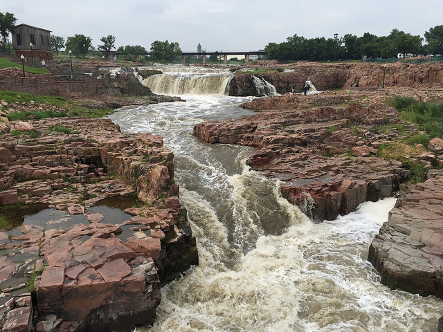 The Big Sioux River. -