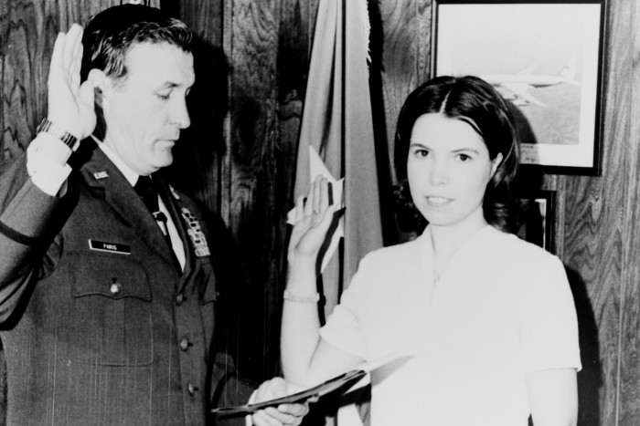 4. First female enlistee in the Georgia National Guard.