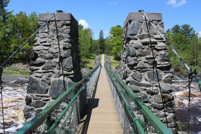 4. The Swinging Bridge at Jay Cooke State Park.
