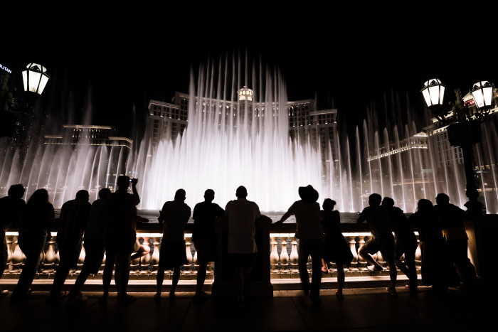 """5. Stop by and view the magical """"Fountains of Bellagio."""""""