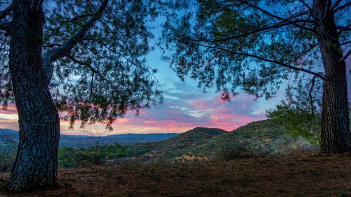 1.  An autumn sunset in Santa Clarita.