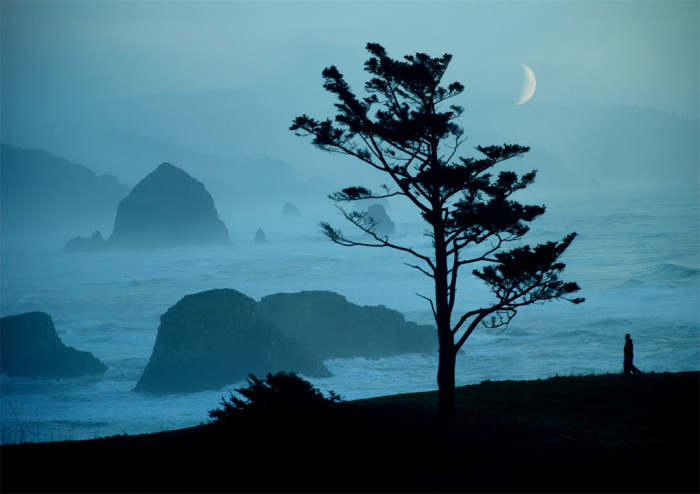 14. A cinematic evening stroll on along the Oregon Coast:
