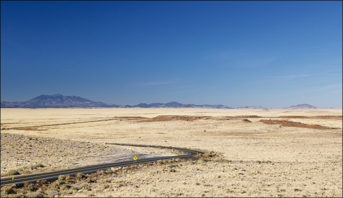 9. Or wide open spaces like this view near Winslow.