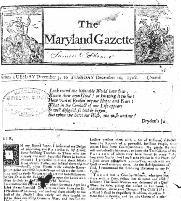 10. The Maryland Gazette is the oldest continuously published newspaper in the US.