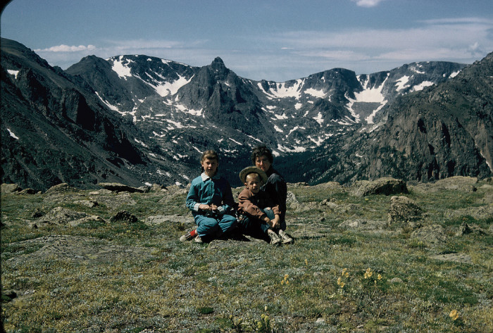"""11. """"Sitting in the tundra, Rocky Mountain National Park, 1956."""""""