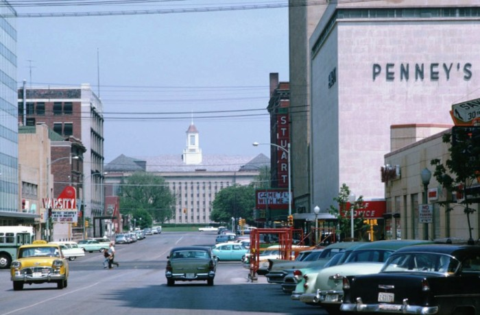 Downtown Lincoln in May, 1963.
