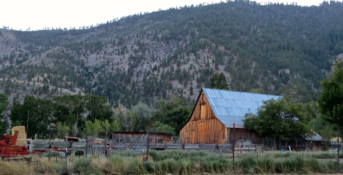 8. These old ranch buildings are located near Genoa, Nevada.