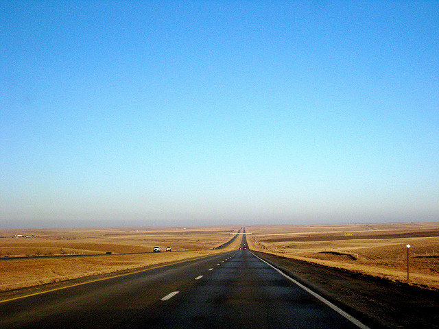 Wide open highway.