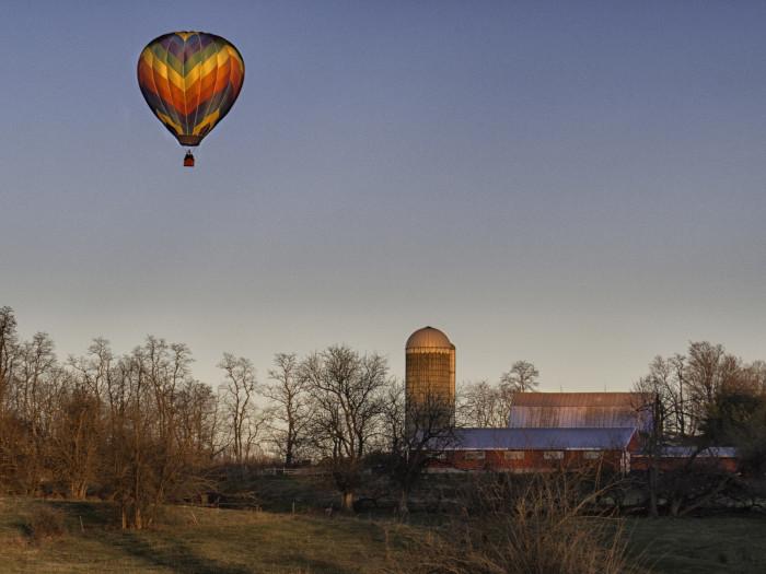 7. Take a hot air balloon ride.