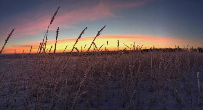 10. This sunrise on the prairie is absolutely magical.
