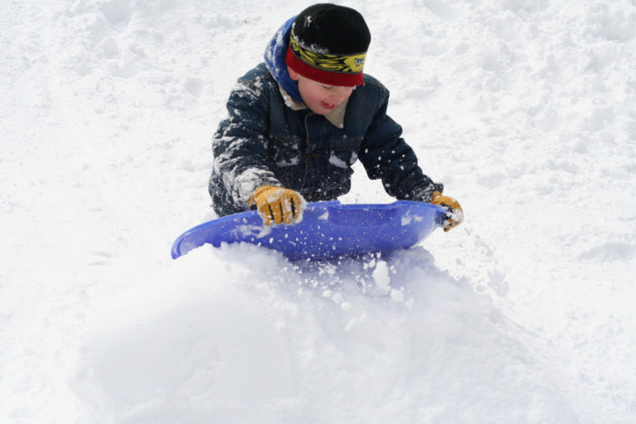 2. Old Mill State Park's rolling hills are even better covered in snow - and make a great spot to sled!