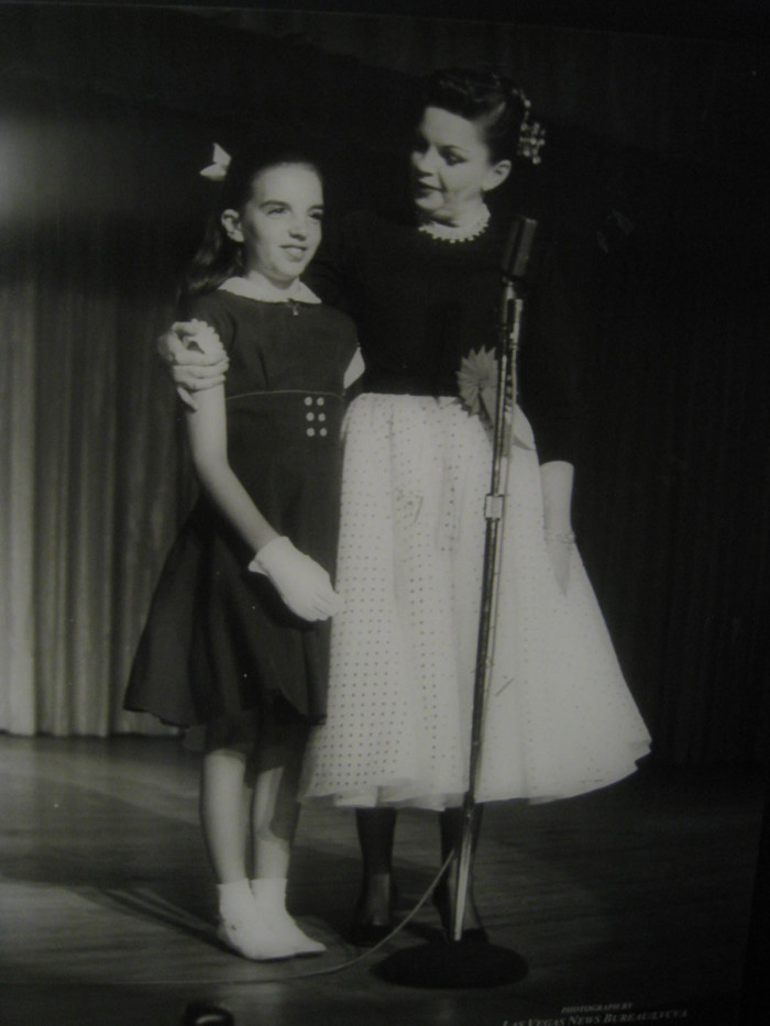 9. Judy Garland and Liza Minnelli at The Flamingo in Las Vegas, 1957.