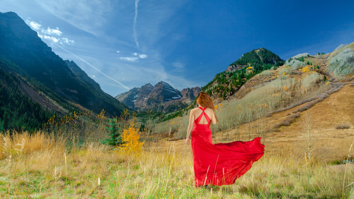 """9. """"A lady in the Maroon Bells."""""""