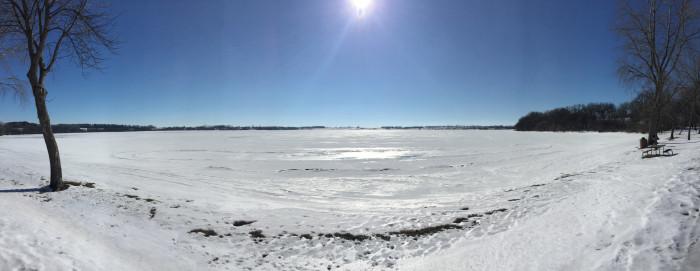 A lake frozen in time - spots in south dakota