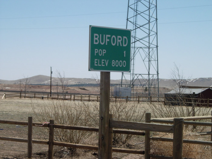 1. Buford, Wyoming