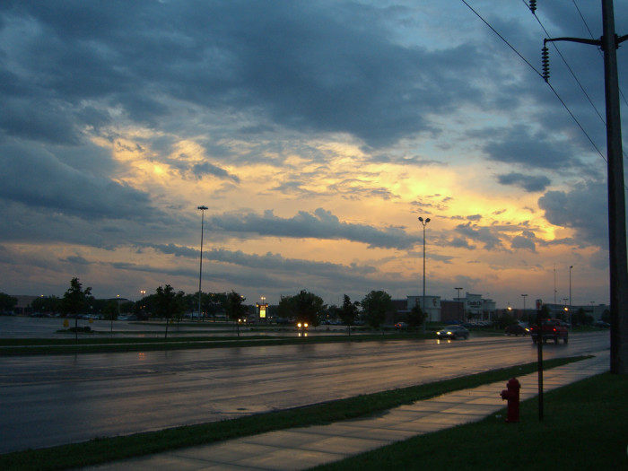 3. Cloudy sunset after the rain in Fargo, ND.