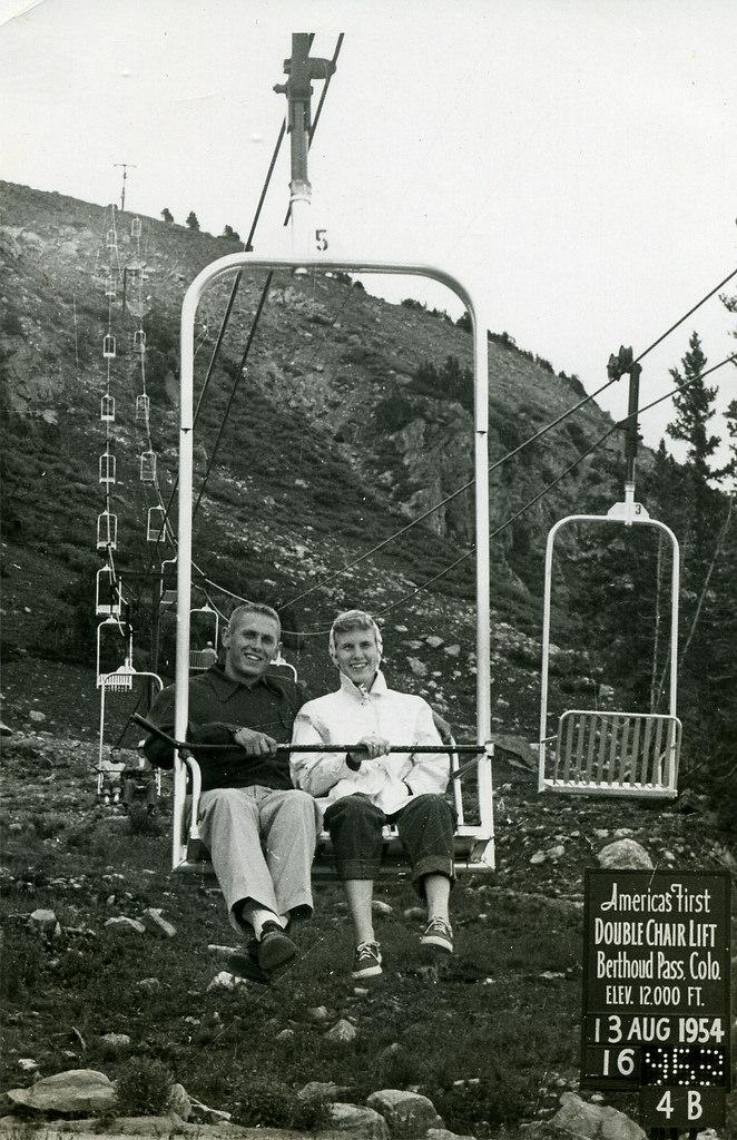 """10. """"John & Audrey in Colorado, 1954."""""""