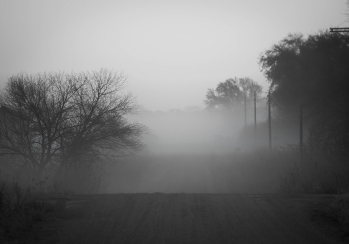 25. This pea-soup fog is incredibly dramatic and mysterious.