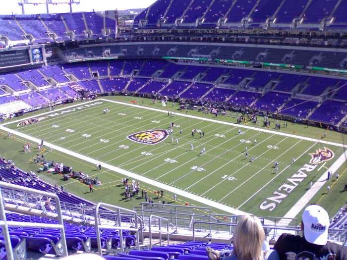 9. The perfectly purple M & T Bank Stadium.